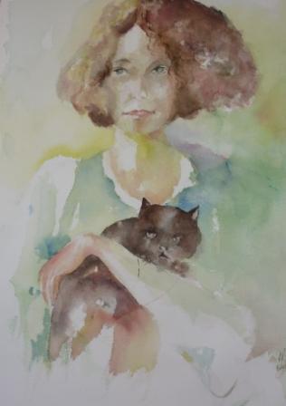 la femme au chat 2011